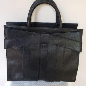 Zac Posen Shirley Bow Black Handbag NWOT